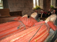 The alabaster tomb of Thomas Babbibgton and wife Edith in Ashover Church
