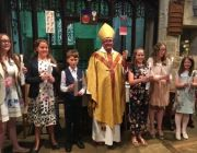 confirmation candidates with the Bishop